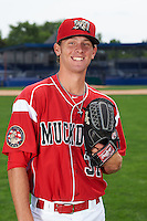 Batavia Muckdogs pitcher Scott Squier (31) poses for a photo on July 8, 2015 at Dwyer Stadium in Batavia, New York.  (Mike Janes/Four Seam Images)