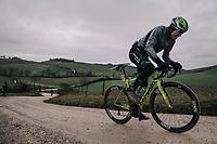 Edvald Boasson Hagen (NOR/Dimension Data)<br /> <br /> 12th Strade Bianche 2018<br /> Siena > Siena: 184km (ITALY)