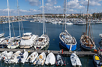 Harbor boats, Alghero, Sardinia, Italy.