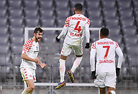 3rd January 2021, Allianz Arean, Munich Germany; Bundesliga Football, Bayern Munich versus FSV Mainz; Alexander HACK celebrates his goal for  0-2