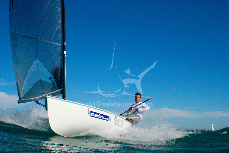 """Charles Benedict """"Ben"""" Ainslie, CBE (born 5 February 1977 in Macclesfield) is an English sailor and three-times Olympic gold medalist. He started sailing at the age of 4 and first competed at the age of 10. Ainslie's first international competition was the 1989 Optimist world championships held in Japan where he placed 37th..The son of Roderick 'Roddy' Ainslie, who captained a boat that took part in the first Whitbread Round The World Race in 1973, he won a gold medal at the World Youth Championships in 1995 and was awarded the title of British Yachtsman of the Year in 1995, 1999, 2000 and 2002. He was elected ISAF World Sailor of the Year in 1998 and 2002..Early life.Ainslie attended Peter Symonds College and Truro School in Cornwall..Sailing.Olympic success.Olympic medal record.Competitor for  Great Britain.Sailing.Gold .2008 Beijing .Finn.Gold .2004 Athens .Finn.Gold .2000 Sydney .Laser.Silver .1996 Atlanta .Laser.Ainslie was a gold medalist at the 1993 Laser Radial World Championship, gold medalist at the 1993 Laser Radial European Championship, silver medalist at the 1994 IYRU World Youth Sailing Championship in Marathon, Greece and gold medalist at the 1995 IYRU World Youth Sailing Championship in Hamilton, Bermuda..Ainslie won silver at the 1996 Olympic Games and gold in the 2000 Summer Olympics in the Laser class. He put on 40 pounds (18 kg) and moved to the larger Finn class for the 2004 Summer Olympics, where he won gold, a feat he repeated in the 2008 competition. He was appointed Member of the Order of the British Empire (MBE) in the 2001 New Year Honours after his success in Sydney, and was promoted to Officer of the Order of the British Empire (OBE) in the 2005 New Year Honours following the Athens Games. He was again promoted, to Commander of the Order of the British Empire (CBE) in the 2009 New Year Honours, following the Beijing Games..Americas Cup.At the beginning of 2005 he worked in the role of Tactician in the New Zealand based Team New Zealand"""