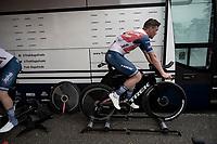 Mads Pedersen (DEN/Trek - Segafredo) warming up pre-stage<br /> <br /> Stage 5 (ITT): Time Trial from Changé to Laval Espace Mayenne (27.2km)<br /> 108th Tour de France 2021 (2.UWT)<br /> <br /> ©kramon
