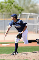 Tyson Bagley, San Diego Padres 2010 minor league spring training..Photo by:  Bill Mitchell/Four Seam Images.