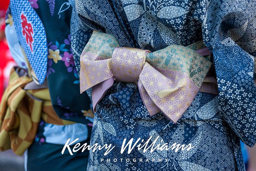 Kimono detail, Bon Odori Festival 2015, Seattle, Washington, USA.