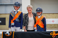 Pony Novice - Champion: Zoe Lawn (Rifesyde Firefly); Reserve: Frankie Lawn (Pied Piper Trick or Treat). 2021 NZL-Equestrian Entries NZ Youth Dressage Festival. NEC Taupo. Sunday 31 January. Copyright Photo: Libby Law Photography