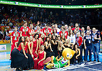 16.09.2011, Arena Zalgirio, Kaunas, LTU, FIBA EuroBasket 2011, Frankreich vs Russland, im Bild Players of third placed Russia celebrate at medal ceremony after the final basketball game between National basketball teams of Spain and France at FIBA Europe Eurobasket Lithuania 2011, on September 18, 2011, in Arena Zalgirio, Kaunas, Lithuania. Spain defeated France 98-85 and became European Champion 2011. EXPA Pictures © 2011, PhotoCredit: EXPA/ Sportida/ Vid Ponikvar  +++++ ATTENTION - OUT OF SLOVENIA/(SLO) +++++