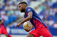 12th September 2021: Barcelona, Spain:  Thomas Lemar of Atletico de Madrid celebrates his goal in the 9th minute of extra time for the win during the Liga match between RCD Espanyol and Atletico de Madrid at RCDE Stadium in Cornella, Spain.