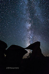 Milky Way above Metate Arch, Utah