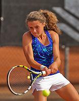 Netherlands, Rotterdam August 08, 2015, Tennis,  National Junior Championships, NJK, TV Victoria, Carmen van Poelgeest<br /> Photo: Tennisimages/Henk Koster