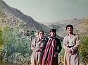 Iraq 1984   .Soheila Ghassemlou with the mother and the brother of a peshmerga at the headquarter of Nawshirwan Mustafa  Irak 1984 Soheila Ghassemlou avec la mere et le frere d'un peshmerga de l'UPK  au quartier general de Nawshirwan Mustafa