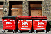 Biffa general waste and recycling bins, Ilford, Essex.