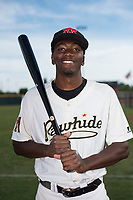 Visalia Rawhide outfielder Marcus Wilson (12) poses for a photo before a California League game against the Stockton Ports at Visalia Recreation Ballpark on May 10, 2018 in Stockton, California. (Zachary Lucy/Four Seam Images via AP Images)