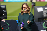 2nd May 2021; Kingsmeadow, London, England; A Big smile from Karen Carney of BT Sports during the UEFA Womens Champions League Semi Final game between Chelsea and Bayern Munich at Kingsmeadow