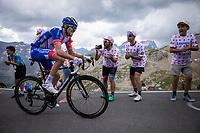 Thibaut Pinot (FRA/Groupama FDJ) up the Col du Galibier (HC/2622m/23km@5.1%)<br /> <br /> Stage 18: Embrun to Valloire (208km)<br /> 106th Tour de France 2019 (2.UWT)<br /> <br /> ©kramon