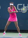 Shuai Peng (CHN) battles against Svetlana Kuznetsova (RUS) at the US Open being played at USTA Billie Jean King National Tennis Center in Flushing, NY on August 29, 2013