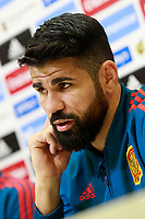 Spain's Diego Costa in press conference after training session. March 21,2018. *** Local Caption *** © pixathlon<br /> Contact: +49-40-22 63 02 60 , info@pixathlon.de
