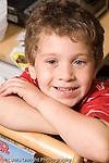 Preschool ages 3-5 closeup portrait of smiling boy horizontal