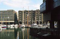 London:  Entrance Lock.   St. Kahterine's Yacht Haven.  Photo 2005.