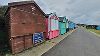 BNPS.co.uk (01202) 558833. <br /> Pic: BNPS<br /> <br /> Pictured: The beach hut at Friars Cliff.<br /> <br /> A beach hut that looks more like a garden shed you could buy from B&Q for £500 has gone the market - for almost £60,000.<br /> <br /> At 7ft by 8ft the timber cabin is about the same size as most garden sheds, but its idyllic location makes it far more valuable.<br /> <br /> Hut 128 is on Friars Cliff Beach in Christchurch, Dorset.<br /> <br /> The dilapidated hut is about 30 years old and in need of replacing. It doesn't have any fixtures or fittings and is just an empty shell.