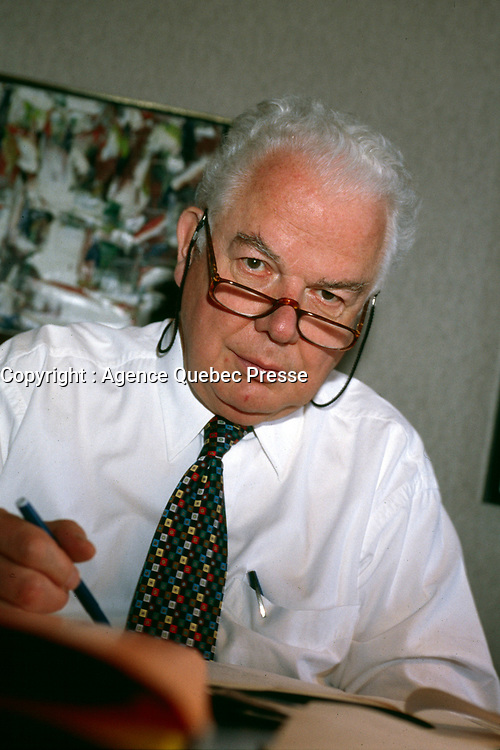 Montreal, CANADA, File Photo of Bernard Lamarre when he was President of SNC-Lavallin. circa 1999<br /> <br /> Lamarre commented this February 2015 on the criminal fraud accusations against the company he founded.<br /> <br /> <br /> Photo : Agence Quebec Presse