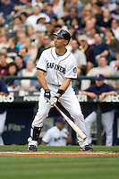 July 5, 2008: The Seattle Mariners' Raul Ibanez at-bat during a game against the Detroit Tigers at Safeco Field in Seattle, Washington.