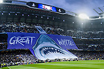 Real Madrid fans display a banner prior to the UEFA Champions League 2017-18 quarter-finals (2nd leg) match between Real Madrid vs Juventus at Estadio Santiago Bernabeu on 11 April 2018 in Madrid, Spain. Photo by Diego Souto / Power Sport Images