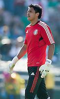 PASADENA, CA – June 25, 2011: Mexico goalie Alfredo Talavera (12) before the Gold Cup Final match between USA and Mexico at the Rose Bowl in Pasadena, California. Final score USA 2 and Mexico 4.