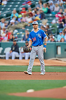 Connor Joe (34) of the Oklahoma City Dodgers during the game against the Salt Lake Bees at Smith's Ballpark on July 31, 2019 in Salt Lake City, Utah. The Dodgers defeated the Bees 5-3. (Stephen Smith/Four Seam Images)