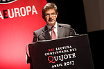 Rafael Catala, Minister of Justice of the Government of Spain during the 21st continuous reading of El Quijote. April 21,2017. (ALTERPHOTOS/Acero)