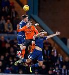 08.11.2019 Dundee v Dundee Utd: Nicky Clark with Jordan McGhee and Shaun Byrne