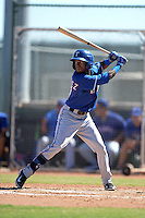 Texas Rangers outfielder Jesus Martinez (87) during an Instructional League game against the Cincinnati Reds on October 3, 2014 at Surprise Stadium Training Complex in Surprise, Arizona.  (Mike Janes/Four Seam Images)