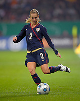 Heather Mitts. US Women's National Team defeated Germany 1-0 at Impuls Arena in Augsburg, Germany on October 29, 2009.