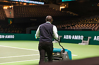 Rotterdam, The Netherlands, 16 Februari 2019, ABNAMRO World Tennis Tournament, Ahoy, Court Preparation,<br /> Photo: www.tennisimages.com/Henk Koster