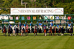 August 10, 2019 : The field exits the starting gate at the start of the Pucker Up Stakes during Arlington Million Day at Arlington International Racecourse in Arlington Heights, Illinois. Cafe Americano, ridden by Irad Ortiz Jr., won the race. Jon Durr/Eclipse Sportswire/CSM