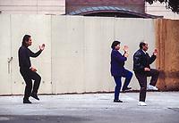 San Francisco, California, Chinatown. Local Residents Doing Morning Tai Chi Exercises.