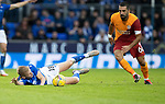 St Johnstone v Galatasaray…12.08.21  McDiarmid Park Europa League Qualifier<br />Ali McCann is fouled by Arda Turan<br />Picture by Graeme Hart.<br />Copyright Perthshire Picture Agency<br />Tel: 01738 623350  Mobile: 07990 594431