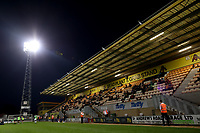 8th September 2020; Abbey Stadium, Cambridge, Cambridgeshire, England; EFL Trophy Football, Cambridge United versus Fulham Under 21; Cambridge Utd fans socially distance in the away stand watching the game