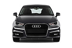 Car photography straight front view of a 2016 Audi A1 Sport 3 Door Hatchback Front View