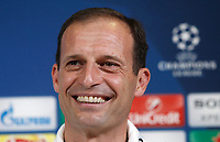 Football Soccer - Juventus Press conference- Uefa Champions League, Juventus stadium, Turin, Italy, May 8, 2017.<br /> Juventus's coach Massimiliano Allegri during the press conference before the semifinal against Monaco.
