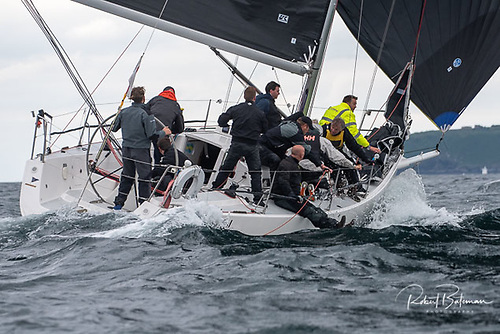 Finbarr O'Regan's new Kinsale J/109 Artful Dodjer moved up to second overall on the final day in IRC One of the Sovereign's Cup