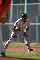 Oakland Athletics James Terrell (5) during an instructional league game against the San Francisco Giants on October 12, 2015 at the Giants Baseball Complex in Scottsdale, Arizona.  (Mike Janes/Four Seam Images)