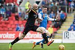 St Johnstone v Partick Thistle…19.08.17… McDiarmid Park… SPFL<br />Conor Sammon and Michael O'Halloran<br />Picture by Graeme Hart.<br />Copyright Perthshire Picture Agency<br />Tel: 01738 623350  Mobile: 07990 594431