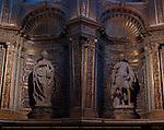 St. Catherine of Alexandria, Neroccio di Bartolomeo de' Landi 1497, St. Ansano, Giovanni di Stefano 1497, Chapel of St. John the Baptist, North Transept, Cathedral of Siena, Santa Maria Assunta, Siena, Italy