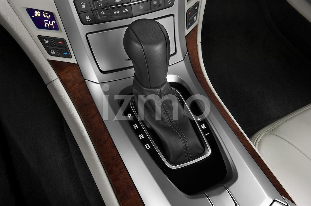 Gear shift detail view of a 2008 Cadillac CTS sedan