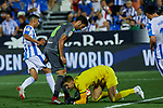 Leganes' Ivan Cuellar and Real Sociedad's Mikel Merino during La Liga match. August 24, 2018. (ALTERPHOTOS/A. Perez Meca)