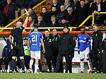 06.02.2019:Aberdeen v Rangers: Daniel Candeias booked for time wasting