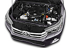 Car Stock 2017 Toyota Hilux Lounge-Double 4 Door Pickup Engine  high angle detail view