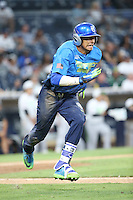 Royce Lewis (31) of the West Team runs to first base during a game against the East Team during the Perfect Game All American Classic at Petco Park on August 14, 2016 in San Diego, California. West Team defeated the East Team, 13-0. (Larry Goren/Four Seam Images)