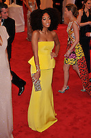 Solange Knowles at the 'Schiaparelli And Prada: Impossible Conversations' Costume Institute Gala at the Metropolitan Museum of Art on May 7, 2012 in New York City. ©mpi03/MediaPunch Inc.