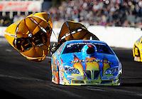 Feb. 20, 2010; Chandler, AZ, USA; NHRA pro stock driver Greg Stanfield during qualifying for the Arizona Nationals at Firebird International Raceway. Mandatory Credit: Mark J. Rebilas-